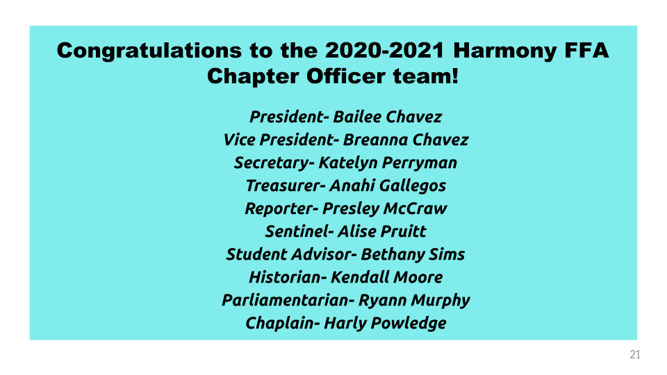 chapter officers