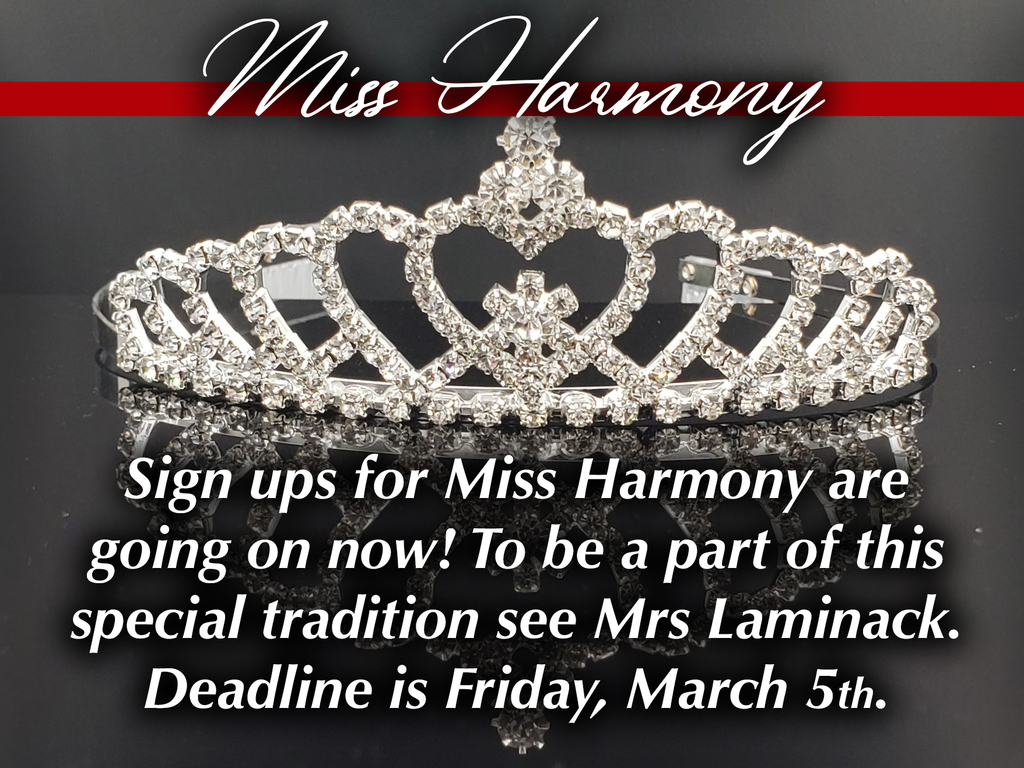 Miss Harmony tryouts