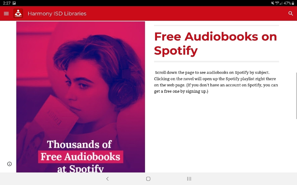 Search for audiobooks on Spotify by subject