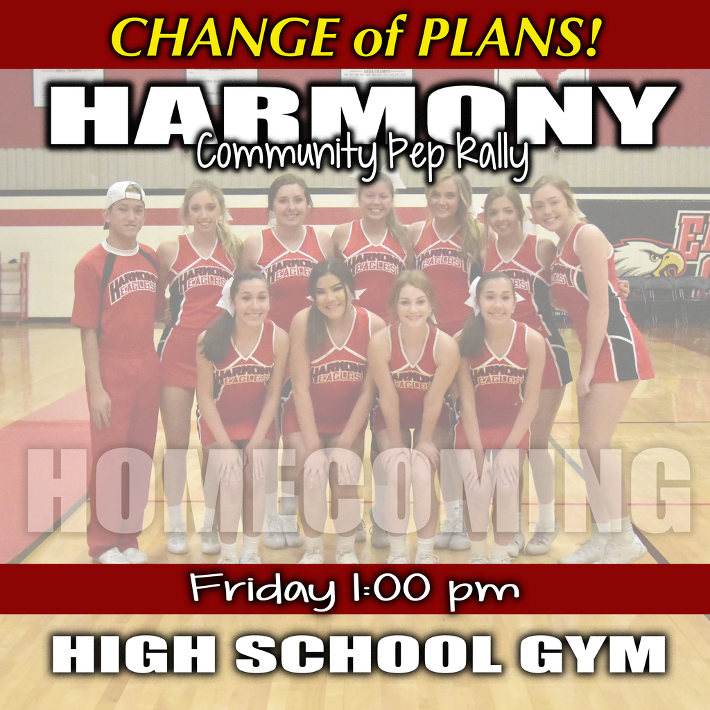 Pep Rally Change of Plans