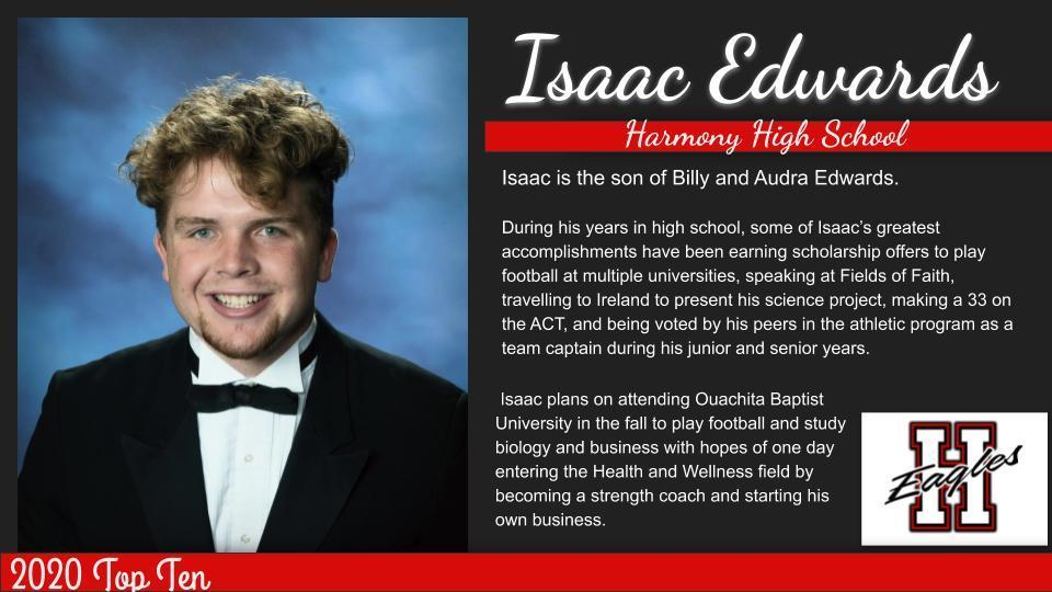 Isaac-Top Ten Graduates