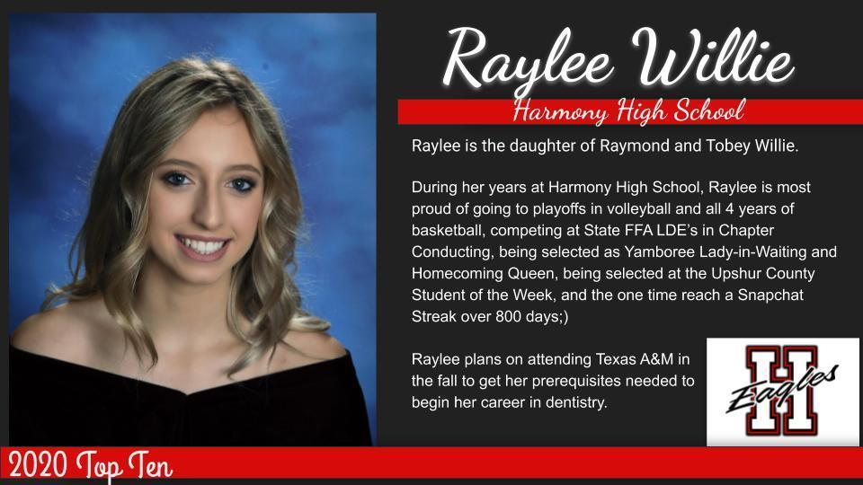 Raylee-Top Ten Graduate