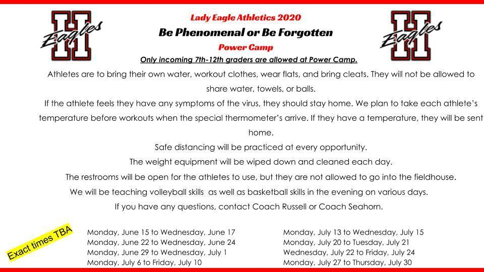 Lady Eagles Power Camp